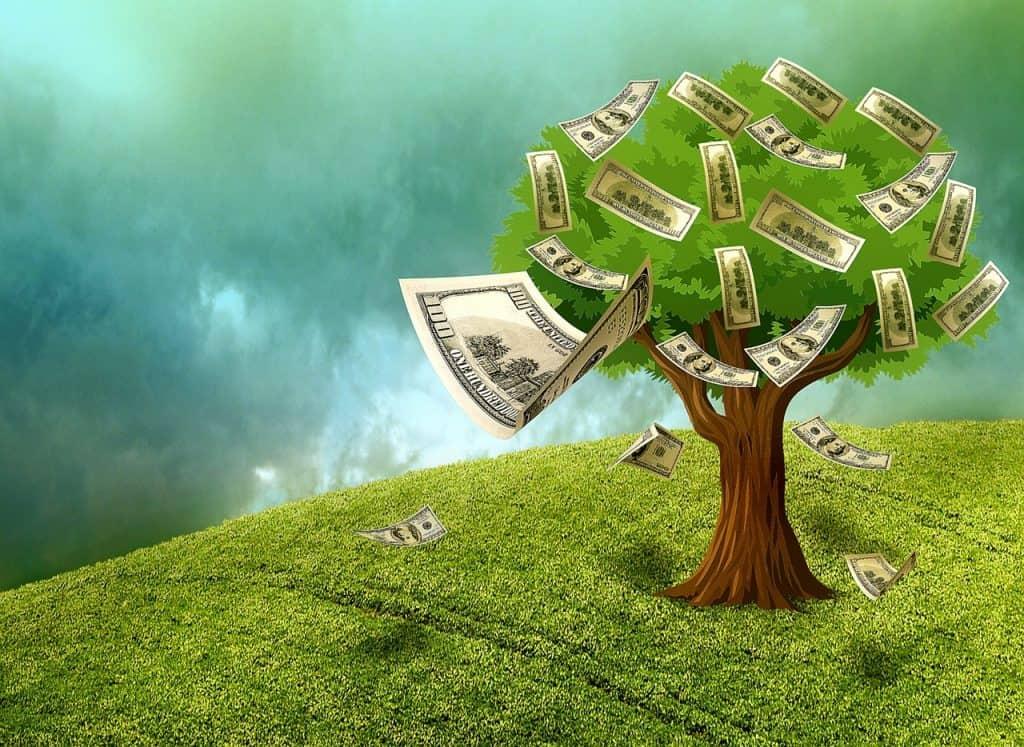 עץ עם כסף